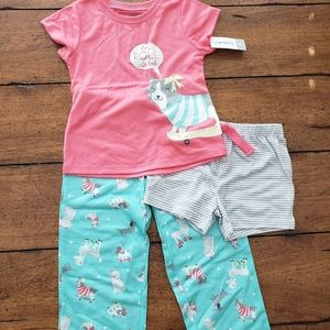 NWT 4T three piece doggy PJs by Carter's